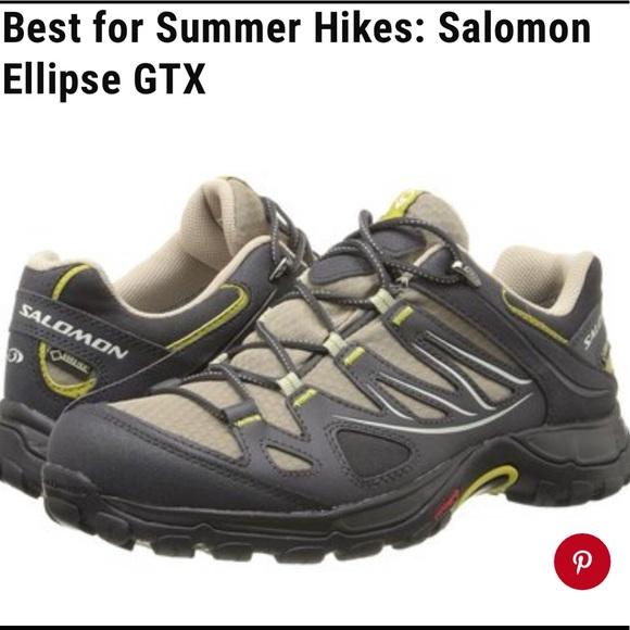 la moitié 376ed e14e1 EUC 💗 Salomon Ellipse GTX Hiking Shoes - Women's